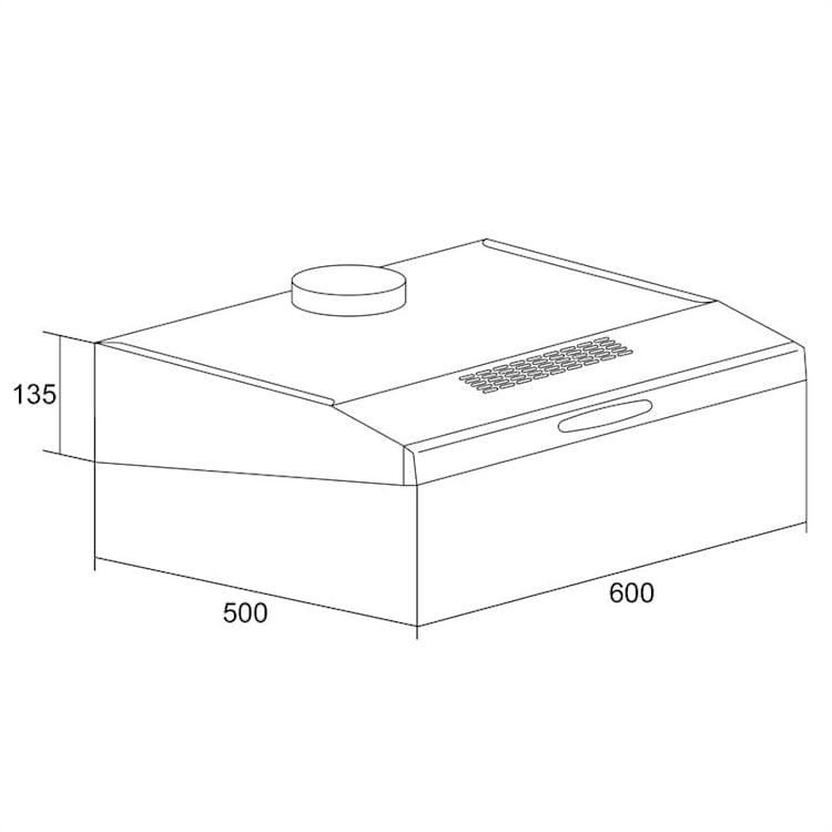 Digestor Klarstein ACV-61B, ušľachtilá oceľ, 60 cm
