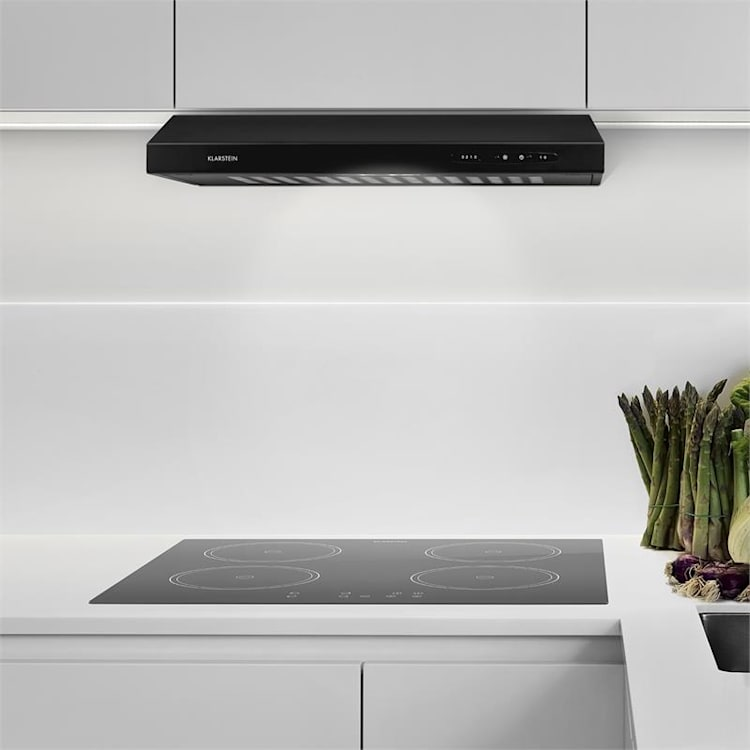 Klarstein UW60BL Kuhinjska Napa 115W nehrđajući čelik - Crna