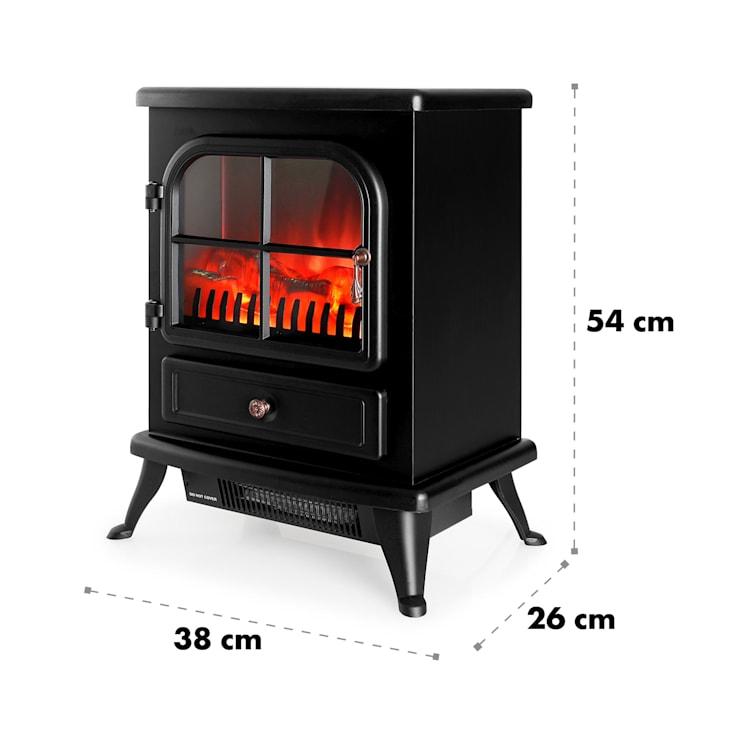 St. Moritz Electric Fireplace Heater 1650W/1850W Black