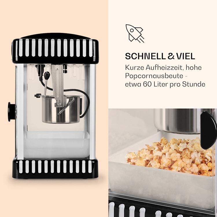 Volcano Popcornmaschine 300W Rührwerk Edelstahl-Topf Schwarz