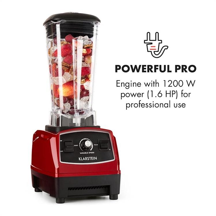 Herakles 2G Power-Mixer 1200W 1,6PS 32.000U/min BPA-frei 2l rot Rot