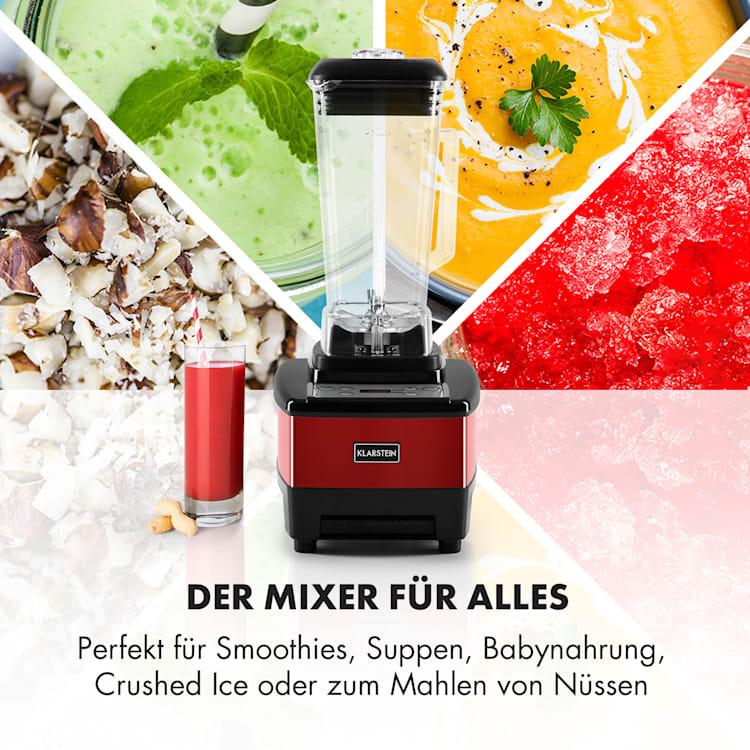 Herakles 4G Power-Mixer 1500W 2PS 35.000U/min BPA-frei 2l rot Rot