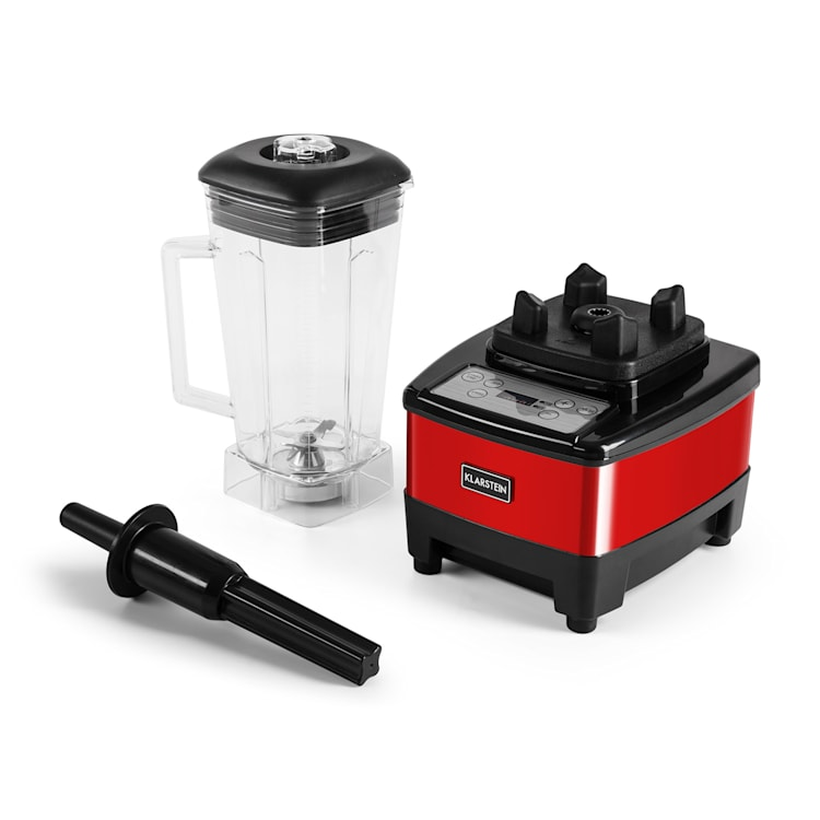 Klarstein Herakles-4G-E, 1500 W, 2 litre, stolný mixér, červený, green smoothie, bez BPA Červená