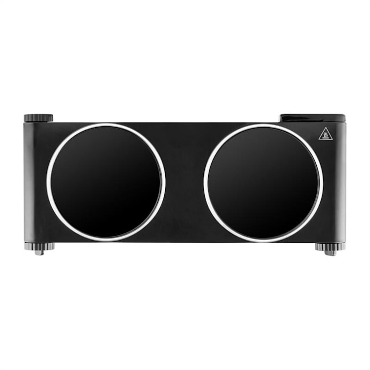 Captain Cook² Double Hot Plate Hob Ceramic 2400W Black Black