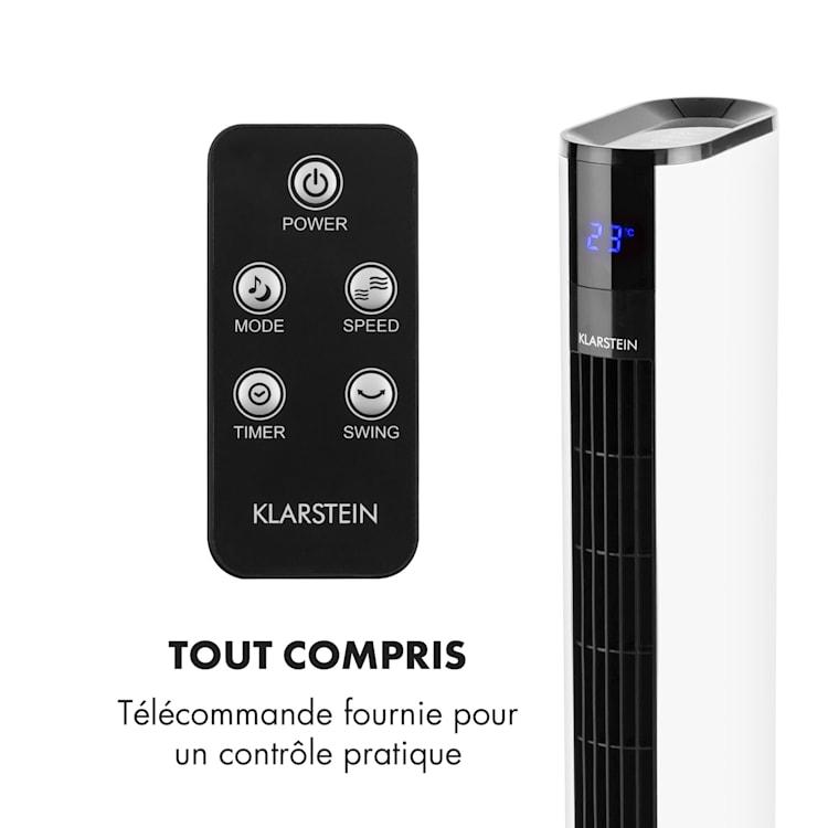 Skyscraper 3G ventilateur tour 48 W débit 1633 m³/h panneau tactile blanc Blanc