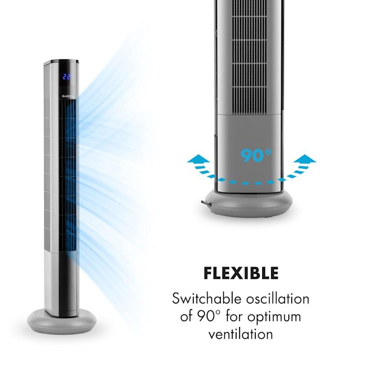 Ventilator Klarstein Skyscraper 3G Pedestal Pedestal fan Touch control de la distanță argintiu Argintiu