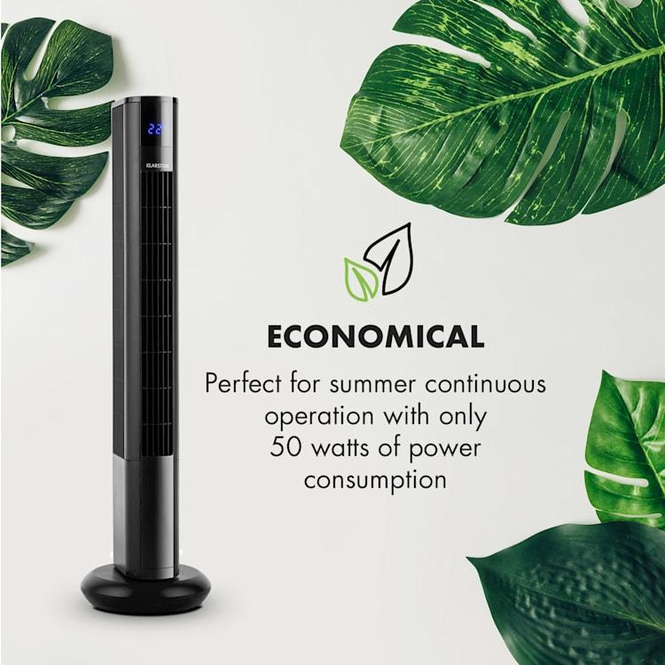 Ventilator Klarstein Skyscraper 3G Pedestal Pedestal fan Touch control de la distanță negru Negru