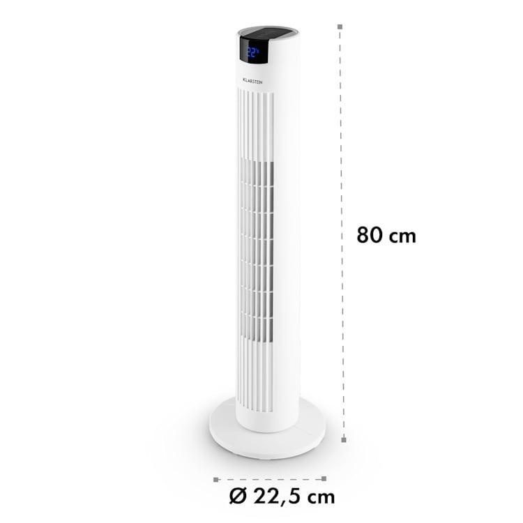 Skyscraper 2G, stĺpový ventilátor s dotykovým ovládaním, 40 W, diaľkový ovládač, biely Biela