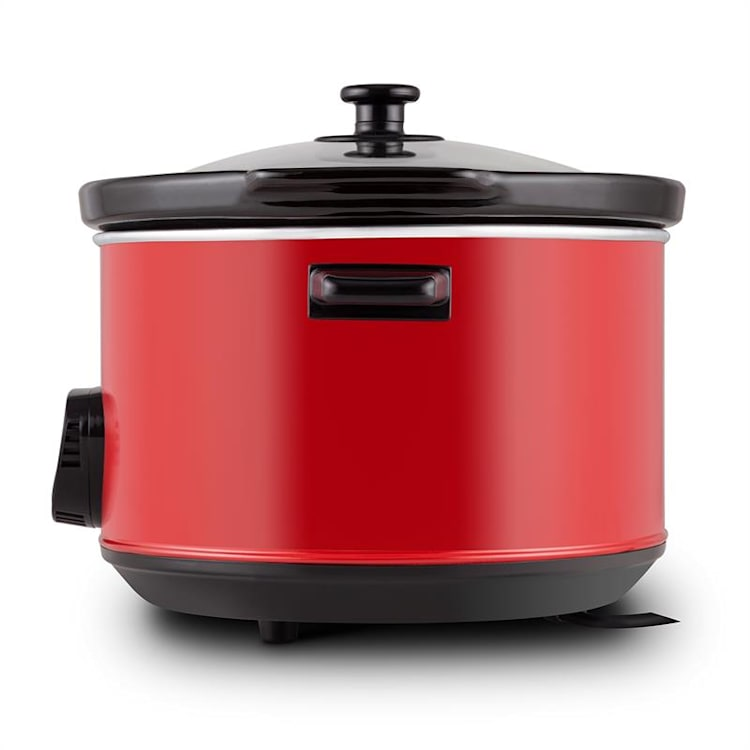 Klarstein Bankett Slow Cooker, červený, 320 W, elektrický hrniec, digitálny, 6,5