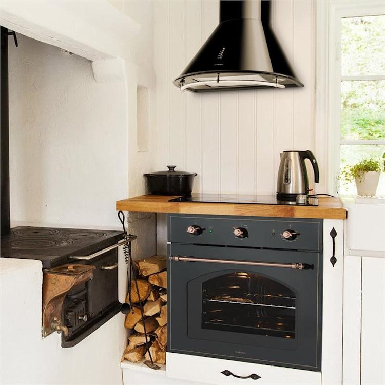Noir Prima Retro Stainless Steel Cooker Hood Black 60 cm 430 m³/h Black