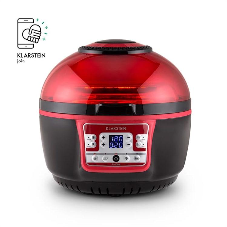 Klarstein VitAir Turbo, 1400W, 9 l, horkovzdušná fritéza, grilování, pečení, červeno-černá Červená