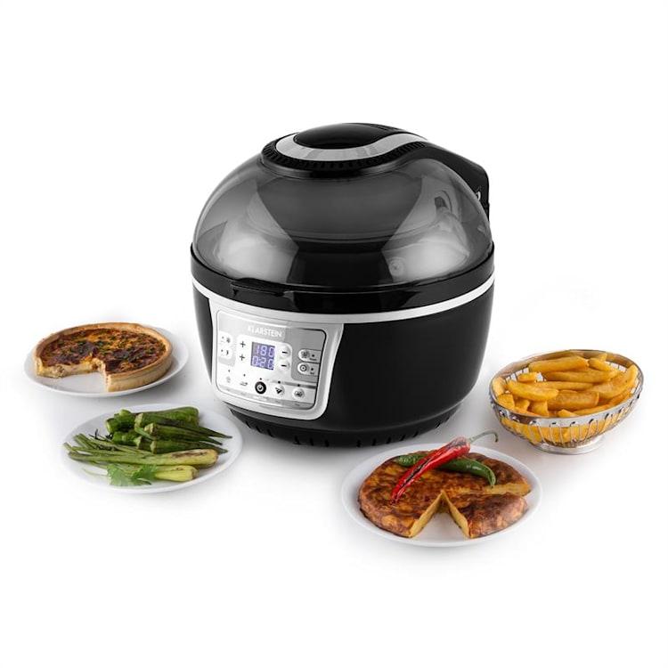 Klarstein Vitair Turbo, 1400 W, 9 l, friteuză, grill, coacere, gri-negru Negru