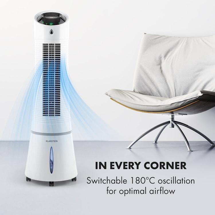 Skyscraper Ice,  4 v 1, ventilátor, chladič vzduchu, diaľkové ovládanie, biela Biela