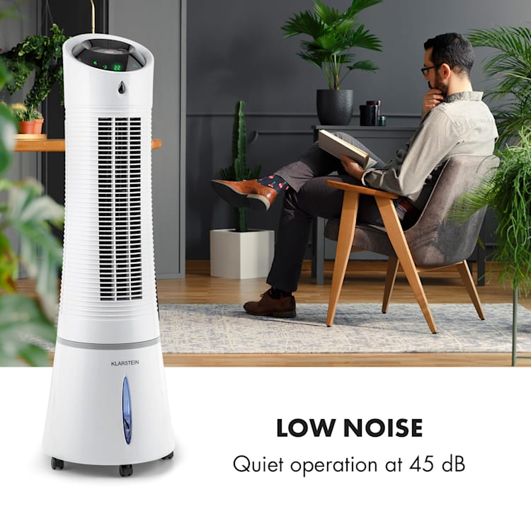 Skyscraper Ice 4-in-1 Air Cooler Air Purifier Humidifier 210 m³ / h 30 W Oscillation Grey White