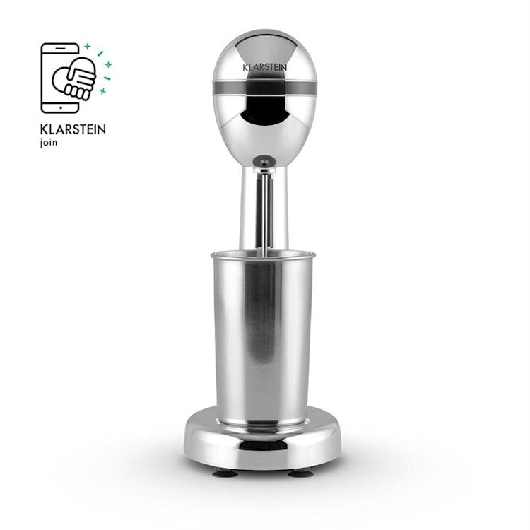 Van Damme Drinkmixer Shaker 100W 450 ml Mixbägare i rostfritt stål, Silver Silver