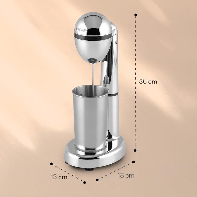Klarstein van Damme, strieborný, 100W, miešač/mixér na miešanie drinkov, 450ml pohár z nehrdzavejúcej ocele Strieborná