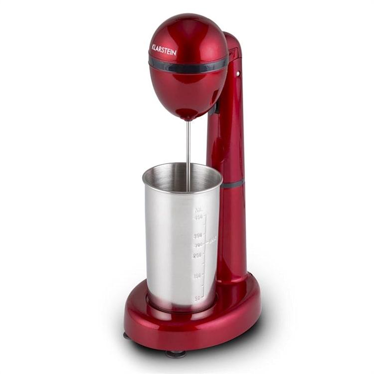 Klarstein van Damme, 100W, miešač/mixér na miešanie drinkov, 450ml, nerezový pohár, červený Červená