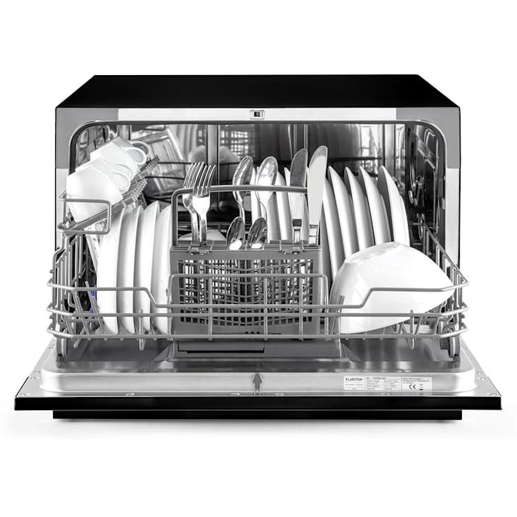 Amazonia 6 Geschirrspüler 1380W 6 Maßgedecke Tasten-Armatur Schwarz