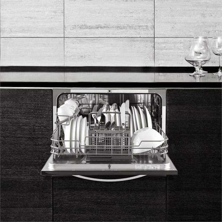 Amazonia 6 Luminance Table Dishwasher A+ 6 place settings black