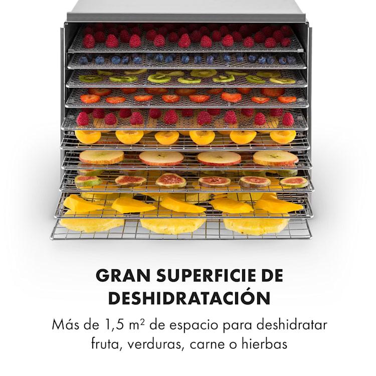 Fruit Jerky Steel 10 Deshidratador de alimentos 1000W acero inox 10 bandejas