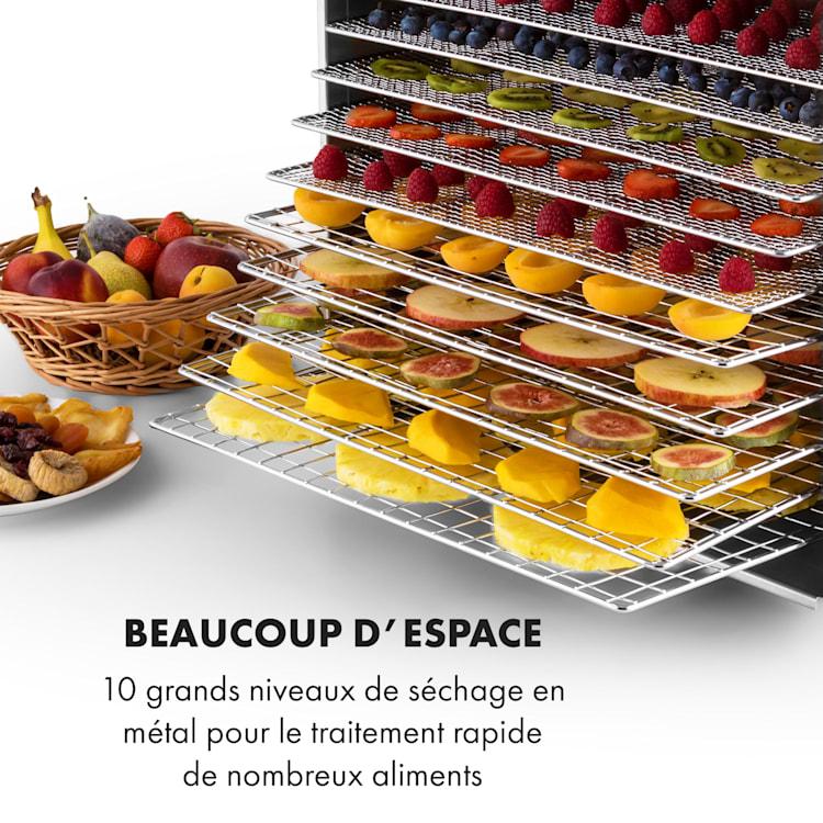 Fruit Jerky Steel 10 déshydrateur alimentaire 1000W 10 étages acier 10 étages