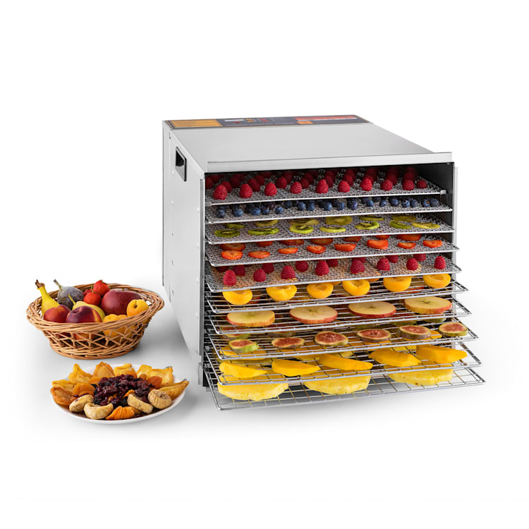 Fruit Jerky Steel 10 Dörrautomat 10 Etagen 1000 W Fläche: 1,5 m²  Timer 10 Etagen