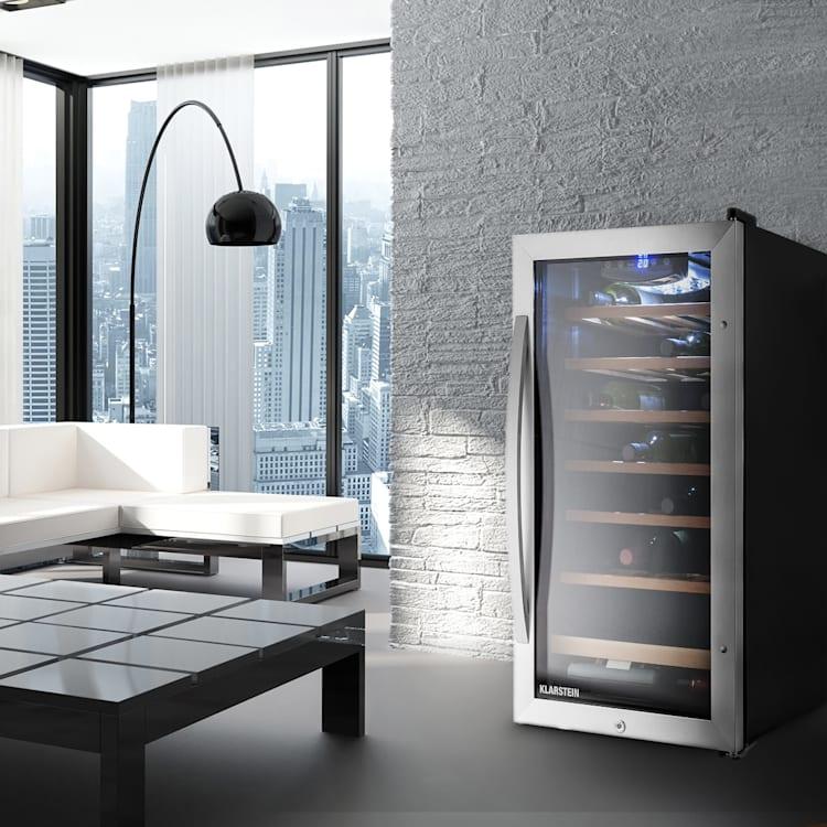 Vinamour 26 Uno Réfrigérateur à vin 26 bouteilles 88 litres Acier inoxydable LED  88 L