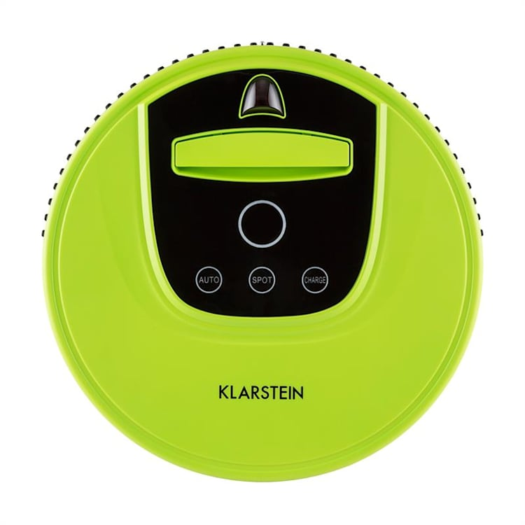 Cleanhero Robotic Vacuum Cleaner remote control 2 working speeds green Green