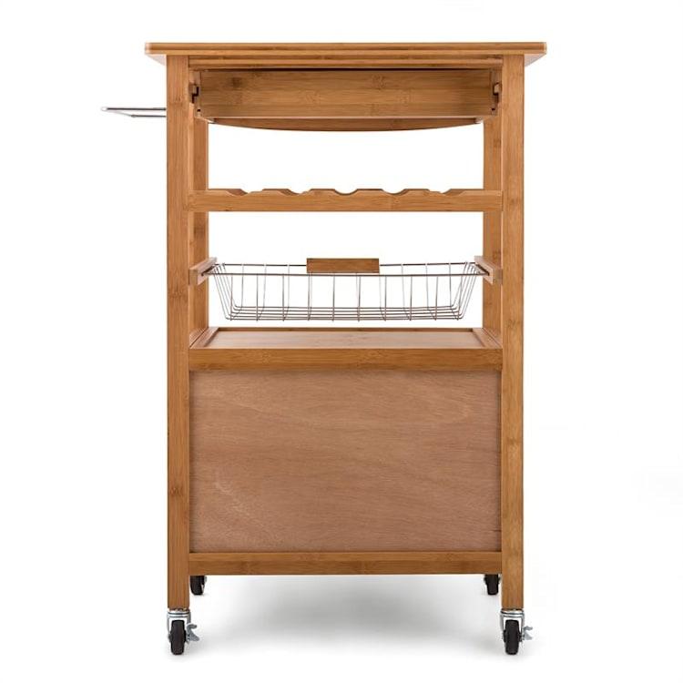 Louisiana, kuchynský vozík, servírovací vozík, 4 poschodia, bambus