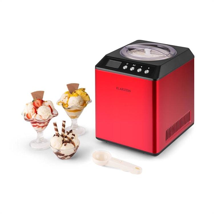 Vanilla Sky glassmaskin kompressor 2l rostfritt stål 180W röd Röd