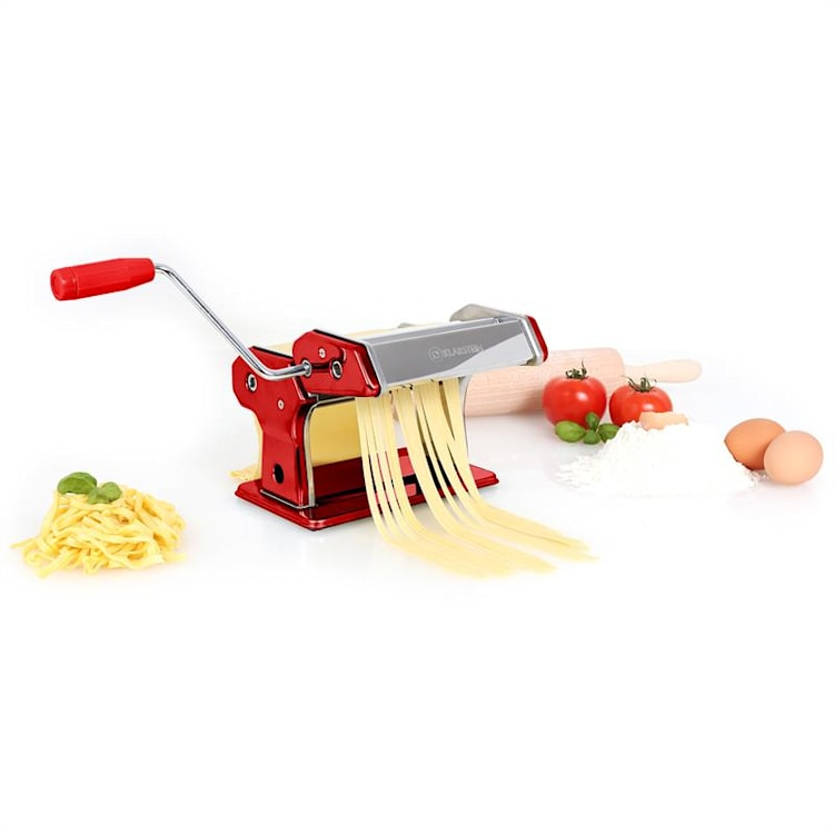 Klarstein Siena Rossa, červený, Pasta Maker, zariadenie na výrobu cestovín, 3 nadstavce Červená
