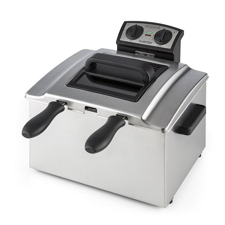 QuickPro XXL 3000 Friteuse  5l avec minuterie 1,5kg 3000W -inox argent