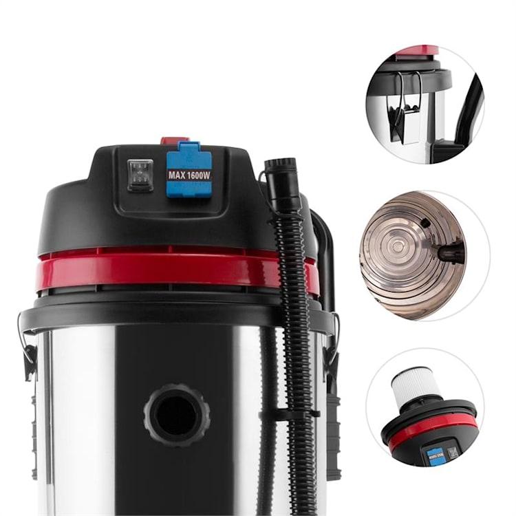 Reinraum Aspirador industrial em seco e húmido 2000W HEPA 60l com tomada eléctrical 60 L