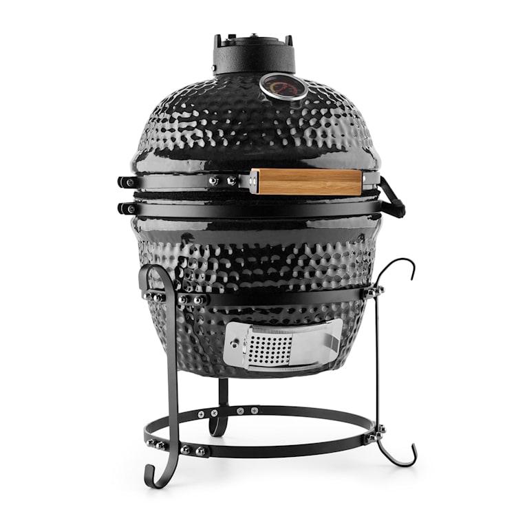 "Prince-sized Kamado Grill Ceramic Grill Ovenl 11"" Smoker BBQ black Black"