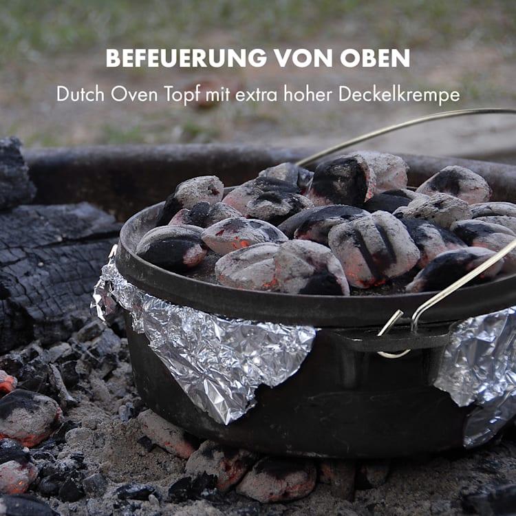 Hotrod 45 Dutch Oven BBQ-Topf 4,5 qt / 4 Liter Gusseisen schwarz 4 Ltr