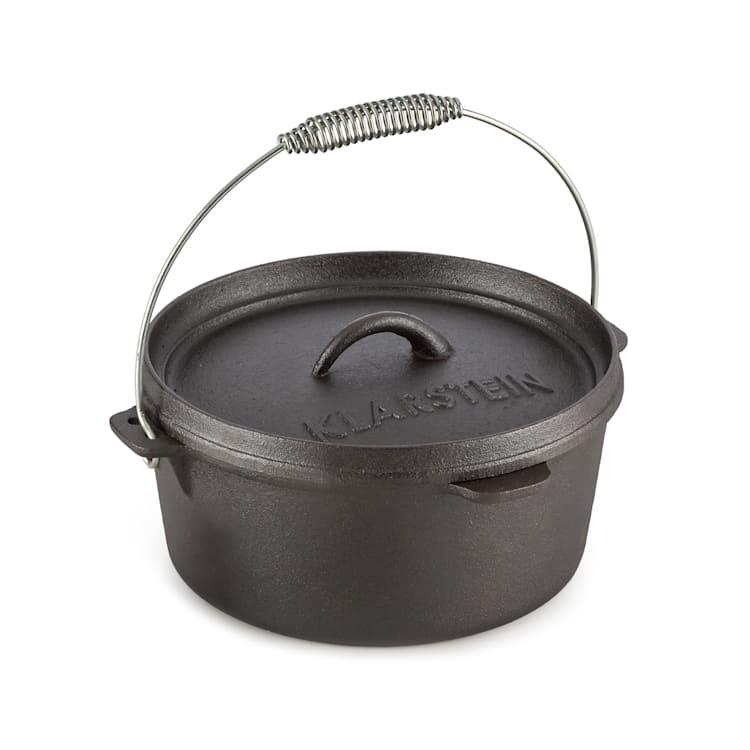 Hotrod 45, liatinový hrniec, BBQ hrniec, 4.5 qt/4 l, liatina, čierny 4 litre