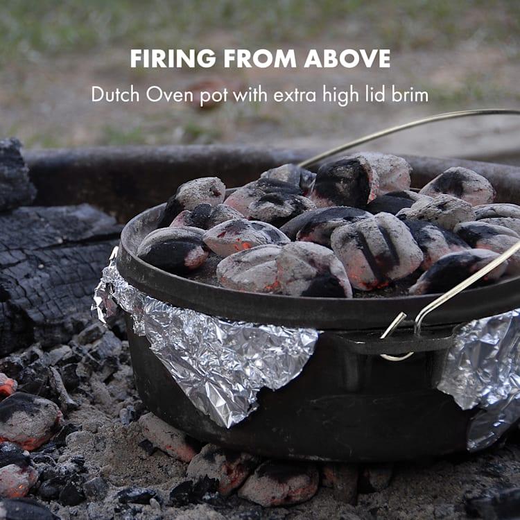 Klarstein Hotrod 60 öntöttvas fazék, barbecue fazék, 6 qt / 5,7 liter, öntöttvas, fekete 5,7 Ltr