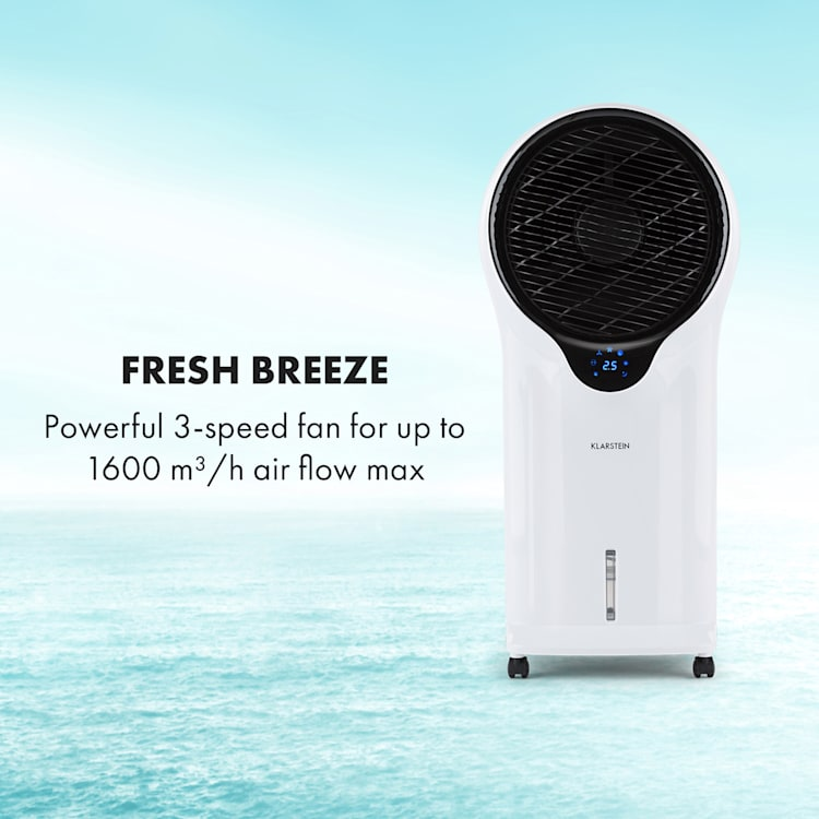 Whirlwind 3-in-1 Fan Air Cooler Humidifier 5.5L 90W White