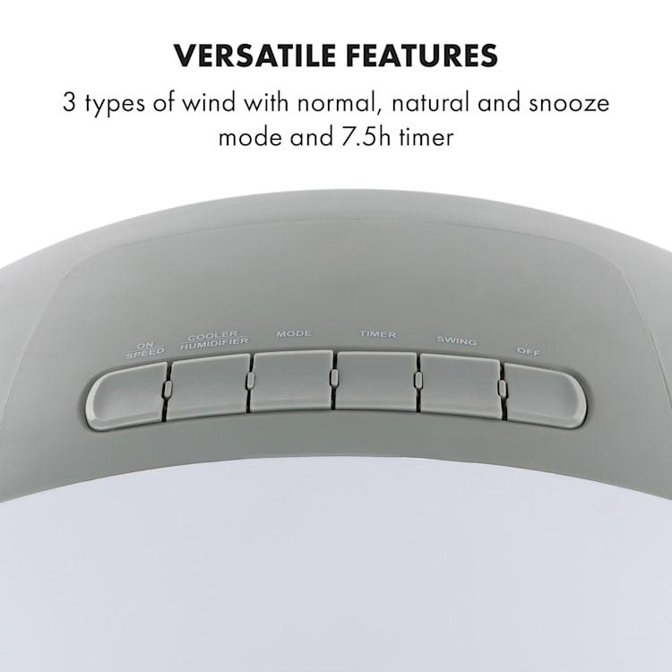 Klarstein Whirlwind 3v1 ventilátor chladič vzduchu zvlhčovač vzduchu 5.5L 110W Bílá