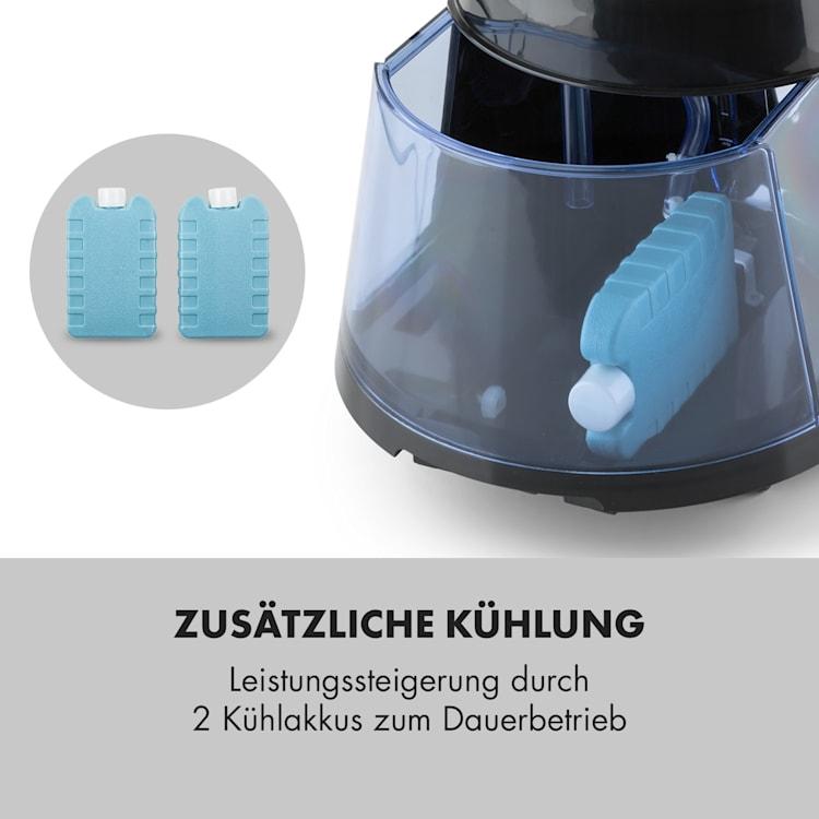Skyscraper Ice 4-in-1 Luftkühler Ventilator Luftbefeuchter Luftreiniger 210 m³/h | 6 Liter | 30 Watt | 3 Geschwindigkeiten | Oszillation | Ionisator | Timer | Fernbedienung | mobil Schwarz
