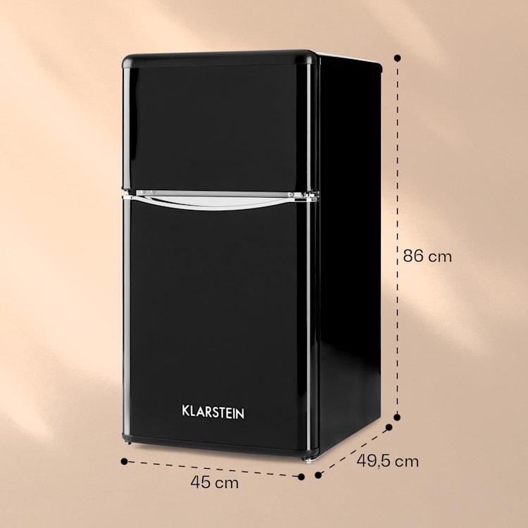 Klarstein Monroe Black kombinovaná chladnička s mrazničkou 61/24 l A+ Retrolook čierna Čierna