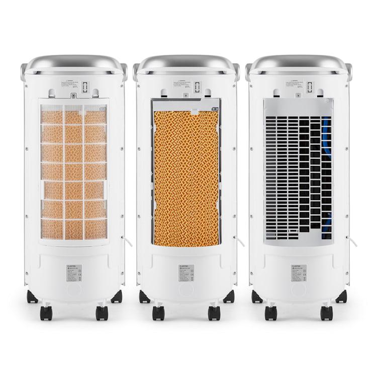 Maxfresh 3-en-1 rafraîchisseur d'air ventilateur humidificateur d'air 444m³/h 6 L télécommande Blanc