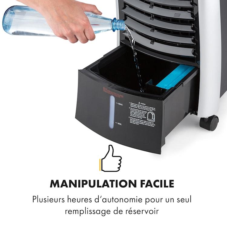 Maxfresh 3-en-1 rafraîchisseur d'air ventilateur humidificateur d'air 444 m³/h 6 L 55 W noir Noir