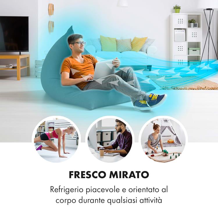 Maxfresh Ventilatore Raffrescatore Umidificatore 444m³/h 6L 55W nero Nero