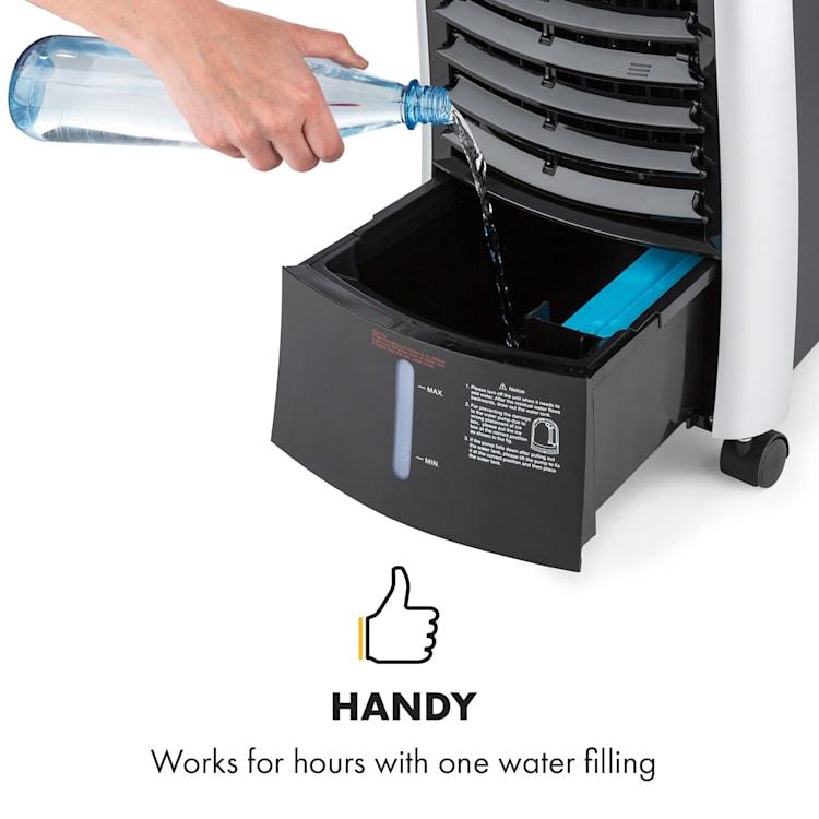 Maxfresh Fan Air Cooler Humidifier 444m³ / h 6L 55W Black Black