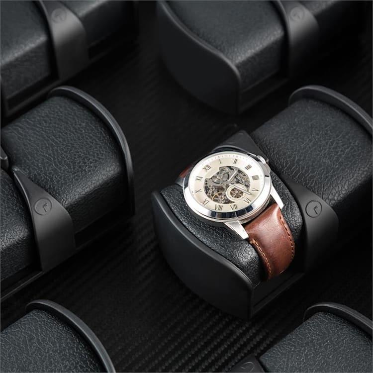 Klingenthal, naťahovač na hodinky, chod vľavo-vpravo, 12 hodiniek, LED, dotykový, čierny Čierna