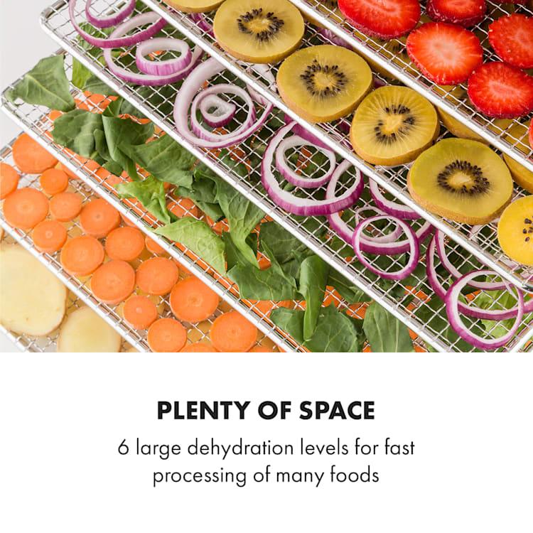 Fruit Jerky Steel 6, szárítógép, dehidrátor, 630 W, 6 emelet, nemesacél 6 tálca