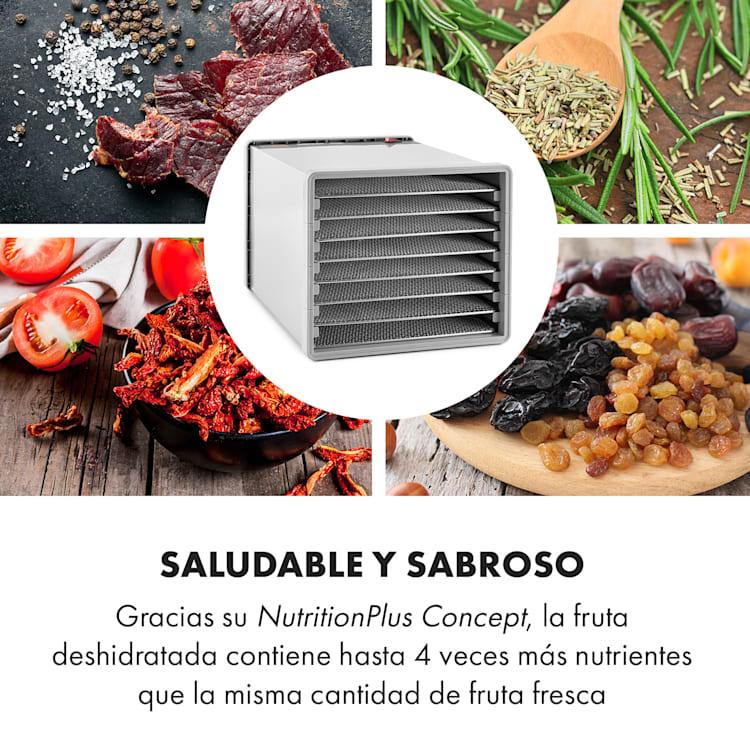 Fruit Jerky Steel 8 Deshidratador secador 630W 8 bandejas acero inoxidable 8 bandejas