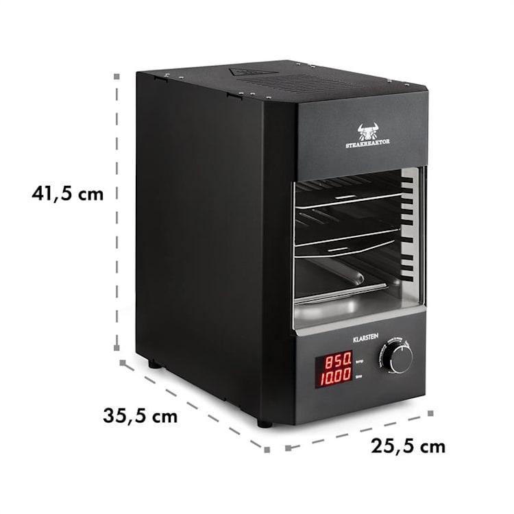 Steakreaktor 2.0 indoor grill 850°C 1600W infrarood Zwart