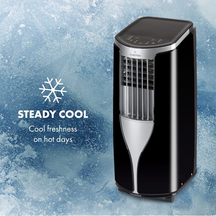 New Breeze 7 Climatiseur mobile 7000 BTU Classe énergétique A télécommande noir Noir